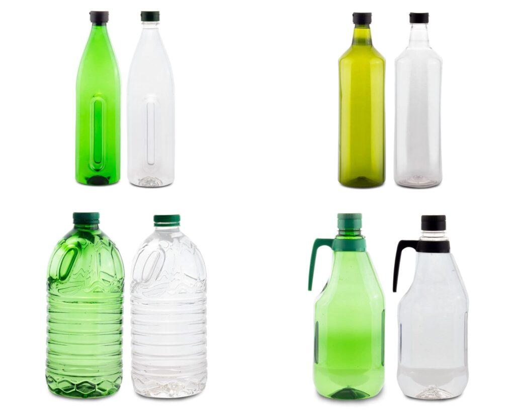 Garrafas y botellas de plástico para envasar aceite de oliva